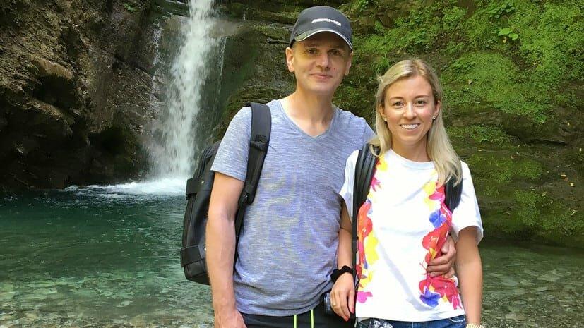 Александр Винник и жена